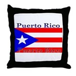 Puerto Rico Rican Flag Throw Pillow