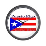 Puerto Rico Rican Flag Wall Clock