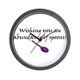 Wishing you an Abundance of S Wall Clock