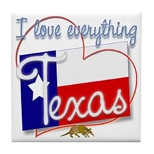 I Love Everything Texas Tile Coaster