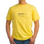 HERSBAND / Gay Slang Yellow T-Shirt