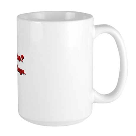 Lower Back Tattoo Large Mug