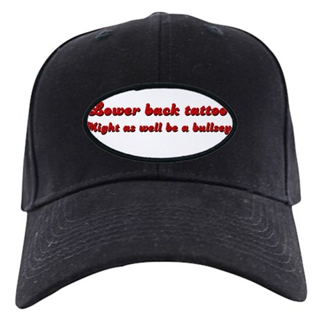 Lower Back Tattoo Black Cap