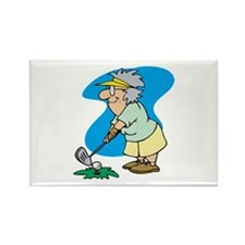 Golfing Granny Rectangle Magnet (10 pack)