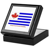 Proud to be Greek Canadian Keepsake Box