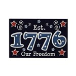1776 Freedom Americana Rectangle Magnet (10 pack)