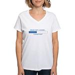 BRAIN FART LOADING... Women's V-Neck T-Shirt