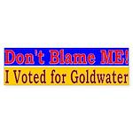 Don't Blame ME-BG Bumper Sticker (10 pk)