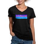 Don't Blame ME-RP Women's V-Neck Dark T-Shirt