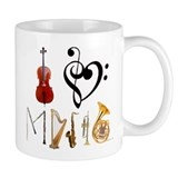I Love Music Small Mug