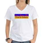 Don't Blame ME-BG Women's V-Neck T-Shirt