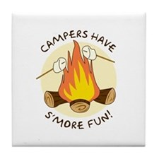 """S'more Fun"" Tile Coaster"