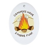 """S'more Fun"" Oval Ornament"