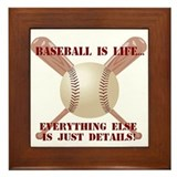 Baseball is Life Framed Tile