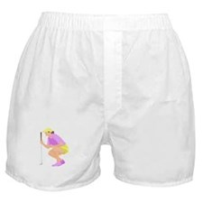 Woman Golfer Boxer Shorts