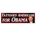 Tattooed Americans for Obama bumper sticker