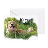 golden bitthday Greeting Card