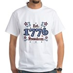1776 Freedom Americana White T-Shirt