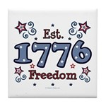 1776 Freedom Americana Tile Coaster