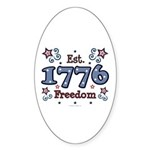 1776 Freedom Americana Oval Sticker
