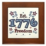 1776 Freedom Americana Framed Tile