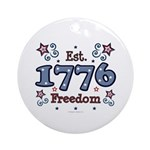 1776 Freedom Americana Ornament (Round)