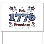 1776 Freedom Americana Yard Sign
