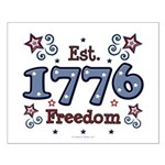 1776 Freedom Americana Small Poster