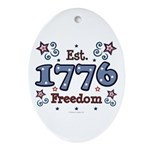 1776 Freedom Americana Oval Ornament