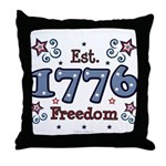 1776 Freedom Americana Throw Pillow