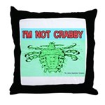 Crabby Crab Louse Crabs Throw Pillow