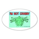 Crabby Crab Louse Crabs Oval Sticker