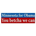 Minnesota You Betcha We Can bumper sticker