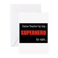 Superhero Drama Teacher Greeting Cards (Pk of 20)
