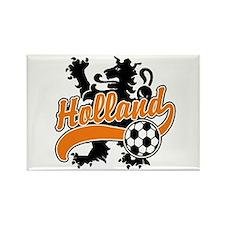 Holland Soccer Rectangle Magnet