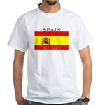 Spain Spanish Flag White T-Shirt