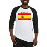 Spain Spanish Flag Baseball Jersey