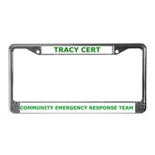 Tracy CERT License Plate Frame