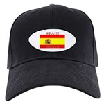 Spain Spanish Flag Black Cap
