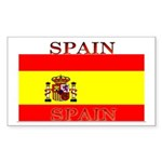 Spain Spanish Flag Rectangle Sticker