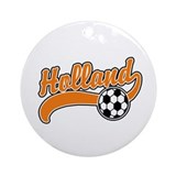 Holland Soccer Ornament (Round)