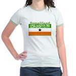 Somaliland Somali Flag Jr. Ringer T-Shirt