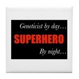 Superhero Geneticist Tile Coaster