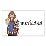 Americana Girl Rectangle Sticker