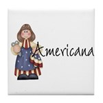 Americana Girl Tile Coaster