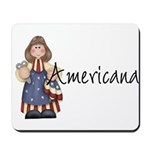 Americana Girl Mousepad