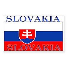 Slovakia Slovak Flag Rectangle Decal