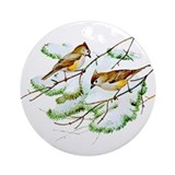 Tufted Titmouse Ornament (Round)