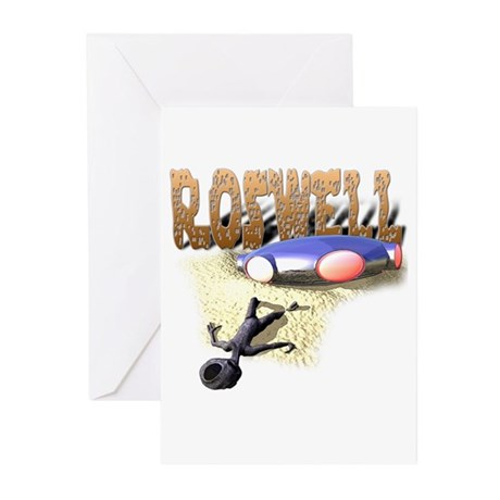 Roswell V3 Greeting Cards (Pk of 20)