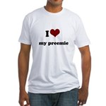 i heart my preemie Fitted T-Shirt